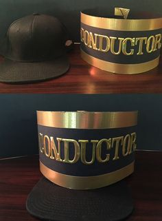 Don't spend $50 bucks on this Polar Express Style conductor hat! I made this out of black poster board, gold duct tape, and gold sticker all bought at the craft store. I bought the hat at Burlington Coat Factory for $3. Total Cost with tax: $14.69.