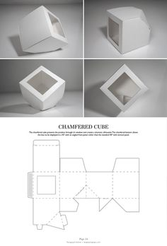 Photo Cube Design, Box Design, Packaging Dielines, Design Packaging, Retail Packaging, Box Packaging, Paper Box Template, Chocolate Packaging, Packaging Design Inspiration