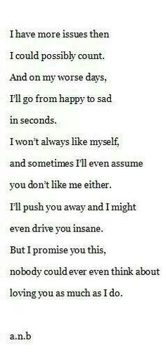 I may push you away, but everything always comes back to you.