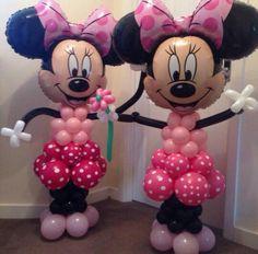 Twin Minnie Mouse balloon models x Minnie Mouse Balloons, Minnie Mouse Theme Party, Minnie Mouse 1st Birthday, Minnie Mouse Baby Shower, Minnie Mouse Pink, Mouse Parties, Birthday Balloons, 2nd Birthday Parties, Minnie Mouse Drawing