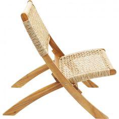 Folding Garden Chairs, Folding Lounge Chair, Ko Lanta, Kare Design, Rattan, Wicker, Cool Furniture, Outdoor Furniture