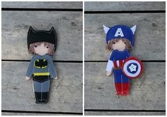 Dress up outfits for Felt paper doll Pilot Sailor by TomToy