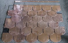 China Durable Copper Waterproof Fish Scale Asphalt shingles / Fiberglass Roofing Tile supplier