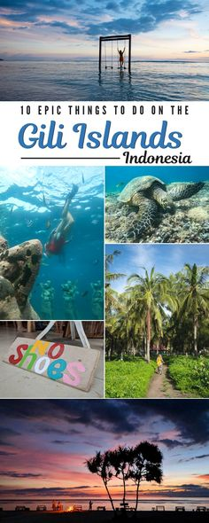 Asia Travel The Best Things To Do on the Gili Islands, Lombok, Indonesia. If you're planning a trip to Gili Trawangan, Gili Meno, or Gili Air then mak. Gili Trawangan, Komodo, Gunung Leuser National Park, Gili Air, Best Snorkeling, Bali Travel, Ubud, Cool Places To Visit, Strand