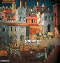 Effects Of Good Government In City Detail From Allegory And ...