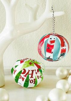 Makeover last year's holiday cards into this year's DIY decorations with these 4 easy card crafts by Hallmark designer extraordinaire Em.