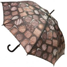 Box of Chocolates Umbrella. So fun for Valentine's Day (no calories). Available at www.let-it-rain.com