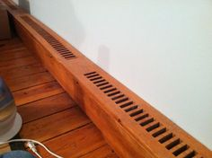This is an instructable about making wooden baseboard heater covers. We bought an old home and when I refinished the floors in my bedroom the metal ones ...