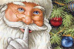 Santa's Secret Counted Cross Stitch Kit