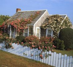 Inspiration for a Nantucket/Cape Cod cottage type home Cute House, My House, Nantucket Home, Nantucket Style, Nantucket Island, Cape Cod Cottage, Cottage In The Woods, Cottage Style, Home Photo