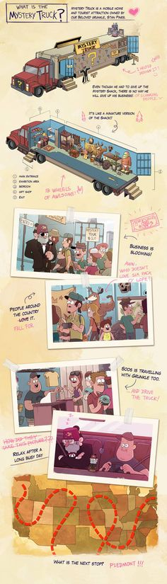 Mystery Truck by markmak on DeviantArt markmak's DeviantArt gallery. is this what will happen when summer is over? Gravity Falls Comics, Gravity Falls Au, Dipper Y Mabel, Mabill, Reverse Falls, Billdip, Disney Shows, Star Vs The Forces Of Evil, Force Of Evil