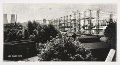 Cedric Price, Fun Palace Lea River Site, Photomontage 1961