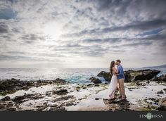 Love this shot with the mossy rocks, ocean in the background and amazing sky. Mosaic | Orange County Wedding Photographer Los Angeles - Part 4