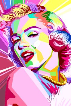 Marilyn Monroe Pop Art by on deviantART Marilyn Monroe Pop Art, Marilyn Monroe And Audrey Hepburn, Marilyn Monroe Painting, Marilyn Monroe Photos, Gravure Illustration, Illustration Art, Pop Art Dibujos, Pop Art Pictures, Pop Art Portraits