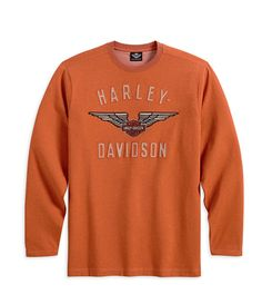 H-D Men's Long Sleeve Winged Performance Knit Tee Harley Apparel, Harley Davidson Online Store, Riding Gear, Motorcycle Parts And Accessories, Mom And Dad, Long Sleeve Shirts, Knitting, Sweatshirts, Motorcycles