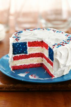 Celebrate the 4th of July with a show-stopper layered cake!