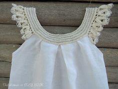 crochet blanco vestido diseño exclusivo Thebabemuse por TheBabemuse