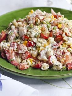 Barefoot Contessa - Recipes -  Pasta Salad.   Lobster and Shells. Serves 16.      Corn, tomatoes €