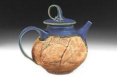 Jancy Jaslow -- Sapphire Teapot w/ Oak Leaves, 2008:
