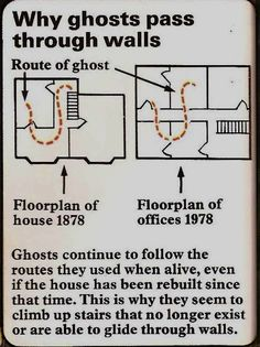 Why ghosts walk through walls...