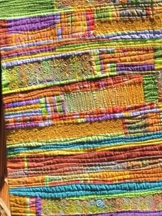 art quilt by Sue Spargo - color inspiration