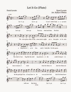 Flute Sheet Music: Let It Go - Sheet Music - simone Flute Sheet Music Disney, Free Flute Sheet Music, Saxophone Sheet Music, Sheet Music Book, Violin Music, Piano Songs, Flute Instrument, Digital Sheet Music, Let It Go Noten