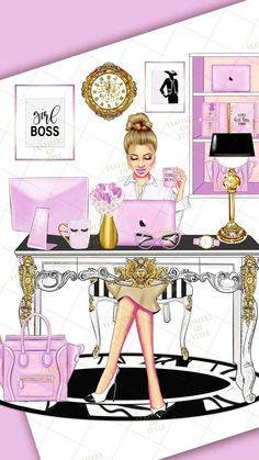She choosed beige and white colours to relax in work with modern architecture and Apple products in all office and out of IT also Boss Babe, Girl Boss, Mode Poster, Photo Deco, Cute Girl Wallpaper, Pink Wallpaper, Wallpaper Quotes, Wallpaper Backgrounds, Illustration Blume
