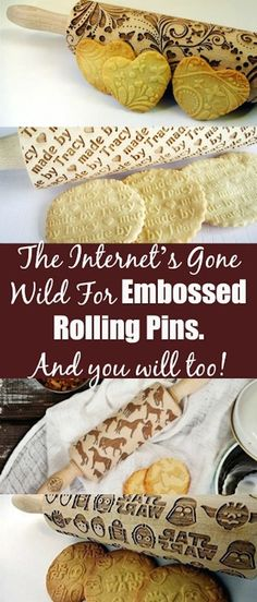 Give Cookies An Artistic Look With Embossed Rolling Pins. Creative ideas for your homemade cookies.