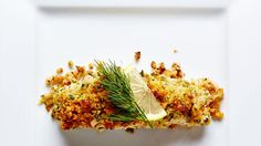 How do you turn a mild fish like halibut into a masterpiece? This Walnut-Crusted Halibut does all the work for you, with the fish transformed, topped with a zesty Parmesan and walnut crust and served with a lemon, shallot and white wine sauce. Halibut Recipes, Seafood Recipes, Cooking Recipes, Best Fish Recipes, Favorite Recipes, Healthy Recipes, Skinny Recipes, Yummy Recipes, Seafood