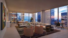 New looks at 45 Park Place, Sharif El-Gamal's FiDi condo tower - Curbed NYclockmenumore-arrow : Construction began on the skyscraper over the summer Apartment View, Dream Apartment, Apartment Living, Luxury Penthouse, Luxury Apartments, Luxury Homes, Luxury Condo, Style At Home, Apartamento New York