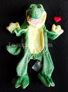 "Unstuffed Build A Bear Alligator Gator Plush With Heart 16"" Inch Green Reptile"
