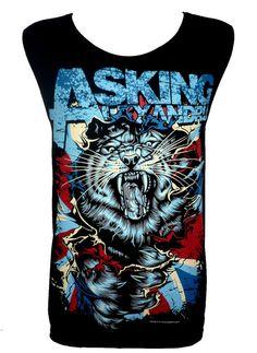 Asking Alexandria Tiger T Shirt Tank Top Singlet par TheRockShirts