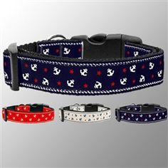 Summers Favorite Pet Collar. This collar has Anchors on them, so cute and nice for the beach, summer home, or on the boat! Add a matching designer leash! Starting at only $8.49
