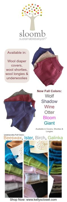 New Fall sloomb/sustainablebabyish stocking! Available in cloth diaper covers, shorties, woolies, and underwoolies.  www.kellyscloset.com