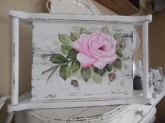 Hand painted roses tray.