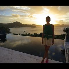 """Beautiful sunsets in our Villa! ☆彡 Thank You @Wimco Villas #villaLPS & #tibi Photos by @johanneshuebl"""