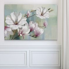 Shop for Magnolia Blooms. Get free delivery at Overstock Your Online Art Gallery Store! Art Floral, Best Canvas, Canvas Art, Pintura Magnolia, Illustration Blume, Magnolias, Online Art Gallery, Gouache, Bloom