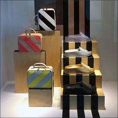 This Nordstrom Racing Stripe Visual Merchandising is a dramatic attention compeller in the store entry presentation niche Retail Merchandising, Racing Stripes, Window Dressings, Store Fronts, Backgrounds, Nordstrom, Windows, Artwork, Home Decor