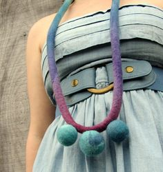Necklace. Felted Necklace by HandiCraftKate, $35.00