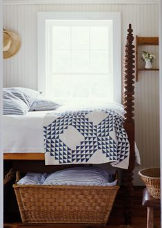Star Bright Farm // Guest Bedroom with Spool Bed
