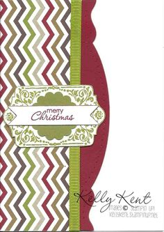 Chevron Christmas by Kelly Kent kellykent.stampinup.net
