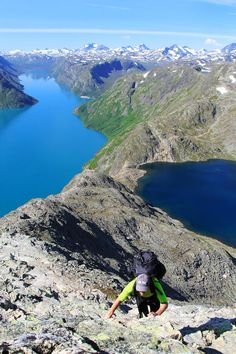 Get your hiking boots on! The tour over the Besseggen Ridge is one of Norway's iconic walks