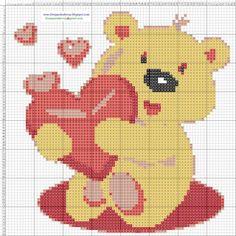 teddy bear cross stitch