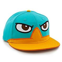 Disney Perry Hat for Boys - Personalizable | Disney StorePerry Hat for Boys - Personalizable - Go undercover like Agent P wearing Perry's super cool baseball cap. The popular platypus from Phineas and Ferb frowns down from this casual hat with adjustable backstrap for a perfect fit.