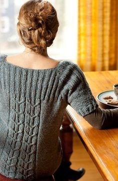 Irish Coffee pullover by Thea Colman - this is beautiful! I need to find someone who can use the pattern to make it for me.