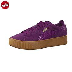 puma damen vikky platform sneakers weiß