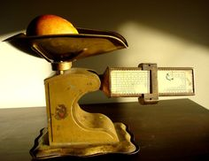 Vintage Gold tone grocery Scale copyright 1939 by ChaseVintage, $55.00