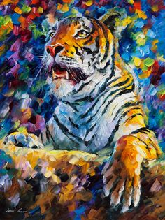 Tiger painting oil Tiger wall art on canvas #art #painting @EtsyMktgTool http://etsy.me/2aXTpjp