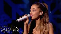 Ariana Grande - Last Christmas (Live At Michael Bublé's Christmas Specia. Michael Christmas, Last Christmas, Michael Buble, Female Singers, Ariana Grande, Passion, Romantic, Songs, Celebrities