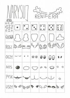 narysuj-renifera Christmas Art For Kids, Christmas Doodles, Christmas Crafts, Fun Arts And Crafts, Diy And Crafts, Diy For Kids, Crafts For Kids, Art Classroom Management, Art Therapy Activities